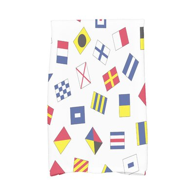 London Geometric Print Hand Towel