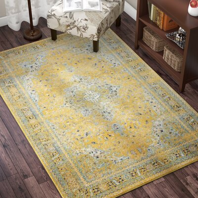 Marine Yellow Area Rug Rug Size: Rectangle 5 x 8