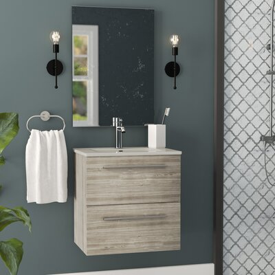 Kegler 20 Single Bathroom Vanity with Mirror Base Finish: Gray