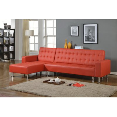 Doll 2 Piece Living Room Set Finish: Red, Orientation: Right Hand Facing