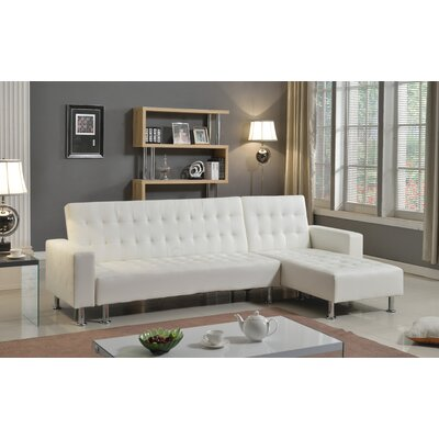 Doll 2 Piece Living Room Set Finish: White, Orientation: Left Hand Facing