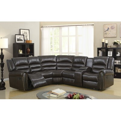 Ugarte Modern Reclining Sectional Upholstery: Expresso