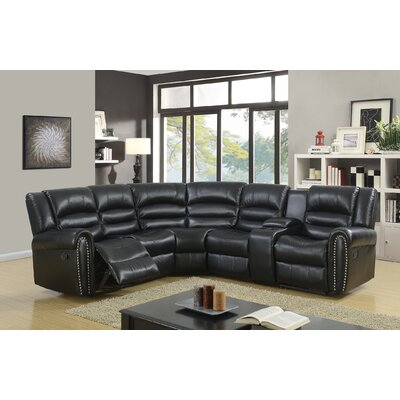 Ugarte Modern Reclining Sectional Upholstery: Black