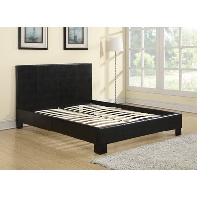 Hiebert Upholstered Platform Bed Size: Queen, Color: Black