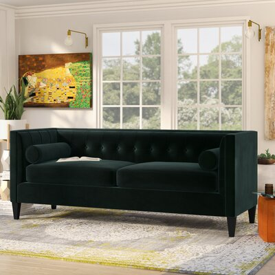 Pineview Tuxedo Chesterfield Sofa Upholstery: Hunter Green