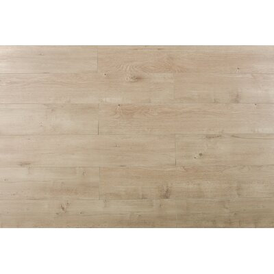 Papapindo 6.7 x 48 x 12mm Oak Laminate Flooring in Ultra Champagne