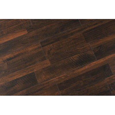 Steve 7.6 x 48 x 12mm Oak Laminate Flooring in Rustic Dark Toast