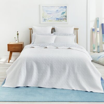Fern 100% Cotton Pillow Sham Color: White