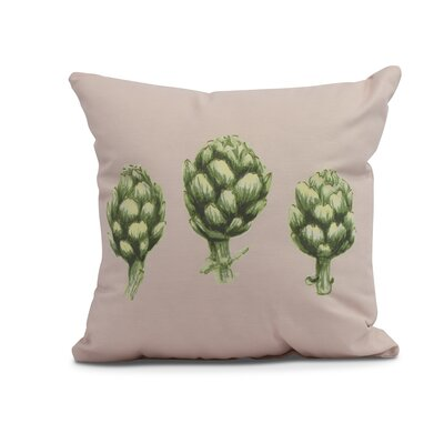 Kaylor Artichoke Indoor/Outdoor Throw Pillow Color: Pale Pink, Size: 20 x 20
