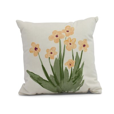 Laymon Throw Pillow Color: Yellow, Size: 20 x 20