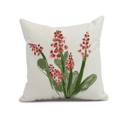 Laymon Throw Pillow Color: Red, Size: 16 x 16
