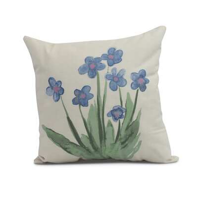 Kaylor Pretty Little Flower Indoor/Outdoor Throw Pillow Color: Light Blue, Size: 20 x 20