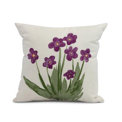Laymon Throw Pillow Color: Purple, Size: 26 x 26