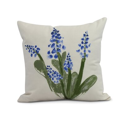 Laymon Throw Pillow Color: Blue, Size: 16 x 16