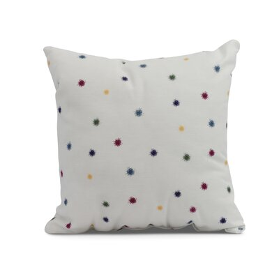 Carmanor Dots Pillow Color: Green, Size: 18 x 18
