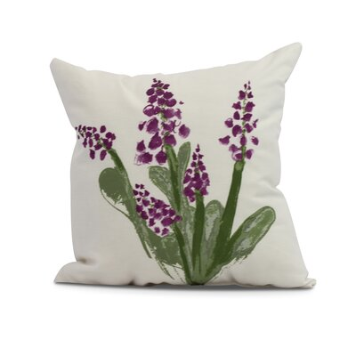 Laymon Throw Pillow Color: Purple, Size: 16 x 16