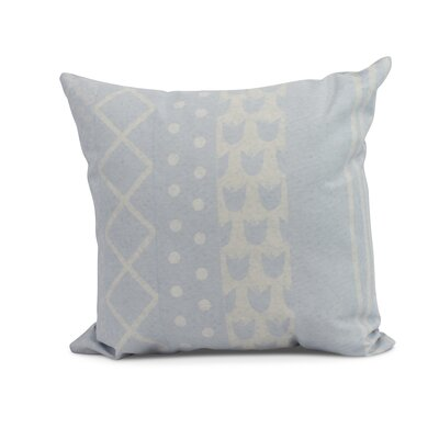 Kaylor Pattern Stripe Indoor/Outdoor Throw Pillow Color: Light Blue, Size: 20 x 20