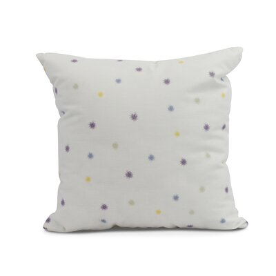 Carmanor Dots Pillow Color: Purple, Size: 16 x 16