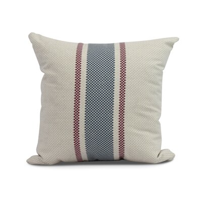 Laymon Grain Sack Throw Pillow Color: Rust, Size: 18 x 18