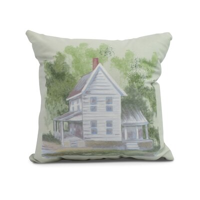 Devita Farmhouse Indoor/Outdoor Throw Pillow Color: Green, Size: 18 x 18