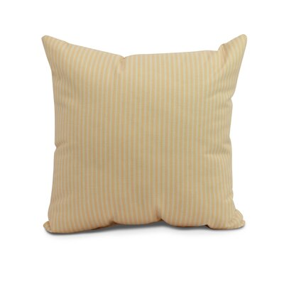 Kaylor Ticking Stripe Indoor/Outdoor Throw Pillow Color: Yellow, Size: 16 x 16