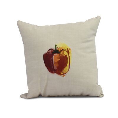 Kaylor Pepper Indoor/Outdoor Throw Pillow Color: Maroon, Size: 20 x 20