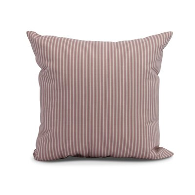 Kaylor Ticking Stripe Indoor/Outdoor Throw Pillow Color: Purple, Size: 16 x 16