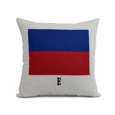 Harriet E Letter Print Throw Pillow Size: 26 x 26