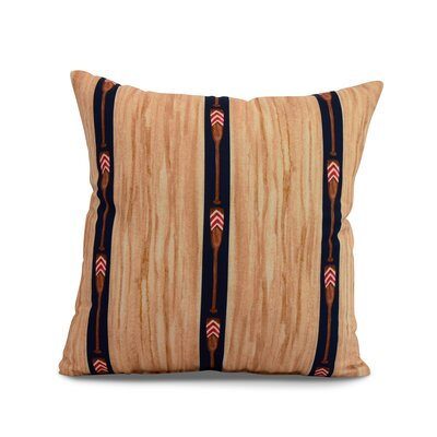 Bryson Oar Stripe Throw Pillow Color: Navy, Size: 16 x 16