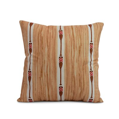 Bryson Oar Stripe Throw Pillow Color: Ivory, Size: 26 x 26