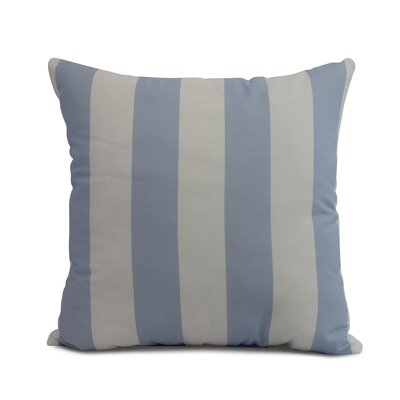 Harriet Rugby Stripe Throw Pillow Color: Blue, Size: 20 x 20