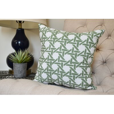 Carmack Throw Pillow Color: Green, Size: 18 x 18