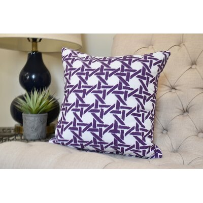 Carmack Throw Pillow Color: Purple, Size: 16