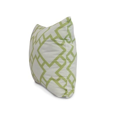 Carmack Square Throw Pillow Color: Light Green, Size: 18 x 18