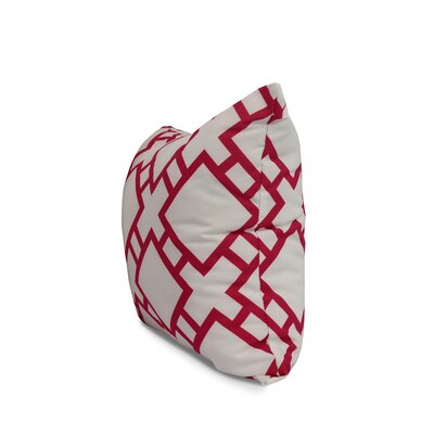 Carmack Square Throw Pillow Color: Pink, Size: 16 x 16