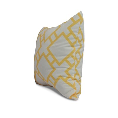 Carmack Square Throw Pillow Color: Yellow, Size: 16 x 16