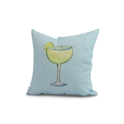 Carmack Margarita Throw Pillow Color: Pale Blue, Size: 16 x 16