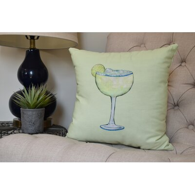 Carmack Margarita Throw Pillow Color: Light Green, Size: 18 x 18