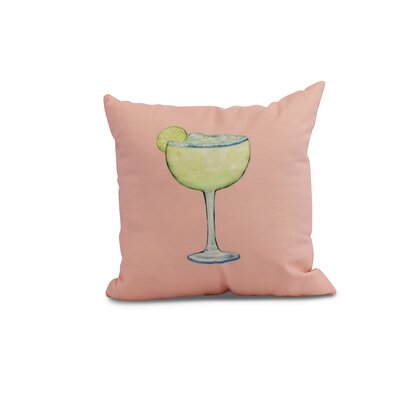 Carmack Margarita Throw Pillow Color: Coral, Size: 26 x 26