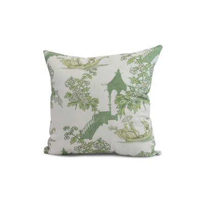 Crader Throw Pillow Color: Green, Size: 20 x 20