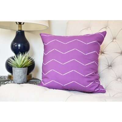 Secrest Throw Pillow Color: Purple, Size: 16 x 16