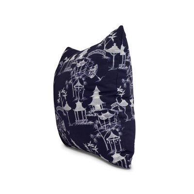Crader Throw Pillow Color: Navy Blue, Size: 16 x 16