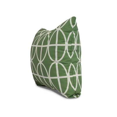 Carmack Print Throw Pillow Color: Green, Size: 18 x 18