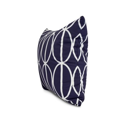 Carmack Ovals Throw Pillow Color: Navy Blue, Size: 18 x 18