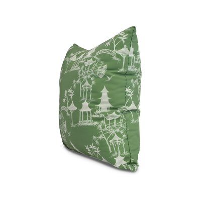 Crader Throw Pillow Color: Green, Size: 26 x 26