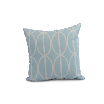 Carmack Ovals Throw Pillow Color: Pale Blue, Size: 18 x 18