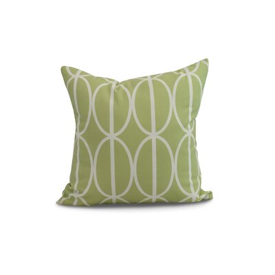 Crosswhite Ovals Go Round Geometric Print Indoor/Outdoor Throw Pillow Color: Green, Size: 20 x 20