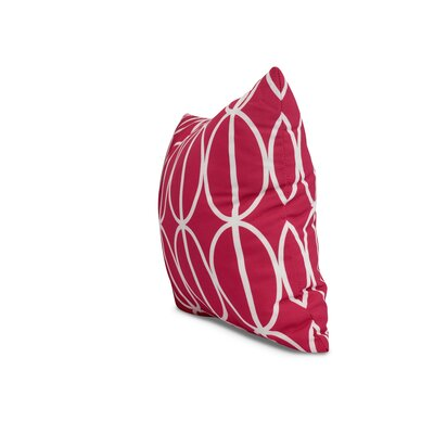Carmack Ovals Throw Pillow Color: Pink, Size: 16 x 16