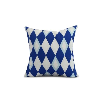 Secrest Throw Pillow Color: Royal Blue, Size: 20 x 20