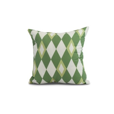 Meehan Geometric Print Indoor/Outdoor Throw Pillow Color: Green, Size: 18 x 18